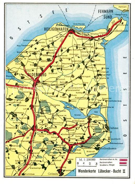 AK / Ansichtskarte Heiligenhafen Ostseebad Ortungskarte Fehmarn Oldenburg Groemitz Kat. Heiligenhafen