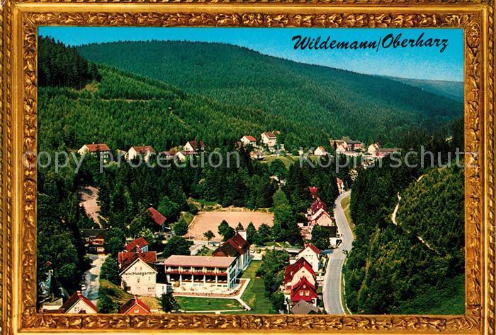 AK / Ansichtskarte Wildemann Landschaftspanorama Bilderrahmen Kat. Wildemann Harz