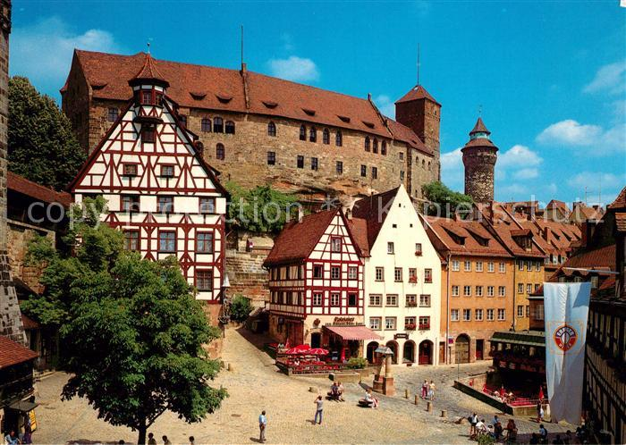 ak ansichtskarte nuernberg altstadt kaiserburg gedicht wappen kat nuernberg nr kn53515. Black Bedroom Furniture Sets. Home Design Ideas