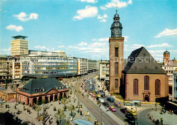 AK / Ansichtskarte Frankfurt Main Rossmarkt und Hauptwache Kat. Frankfurt am Main