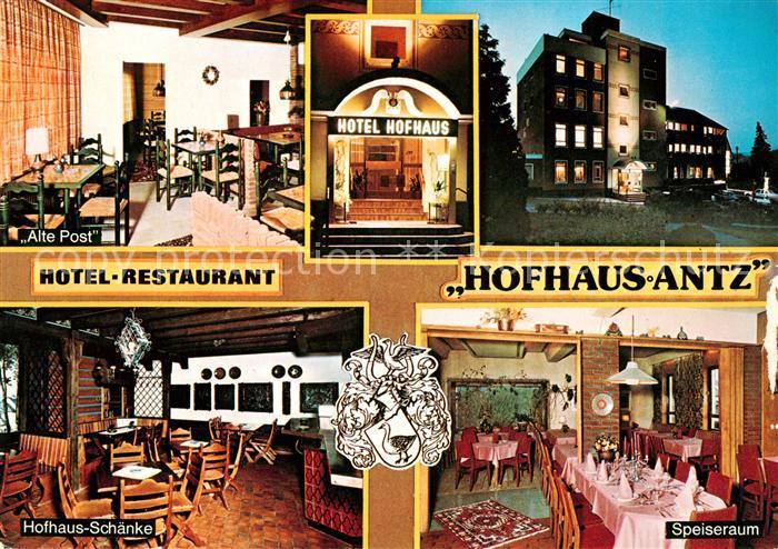 AK / Ansichtskarte Weiskirchen Saar Hotel Restaurant Hofhaus Antz  Kat. Weiskirchen Saar