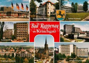 AK / Ansichtskarte Bad Rappenau Kurhaus Kurklinik Wasserschloss Rathaus Kirche Kat. Bad Rappenau