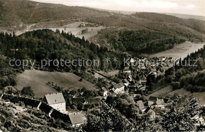 AK / Ansichtskarte Bad Grund Landschaftspanorama Blick vom Huebichenstein Kat. Bad Grund (Harz)
