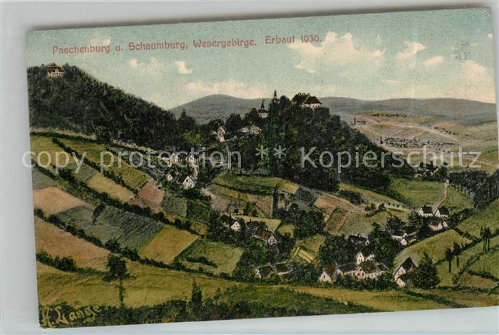 AK / Ansichtskarte Paschenburg Deckbergen und Schaumburg im Wesergebirge Kat. Rinteln