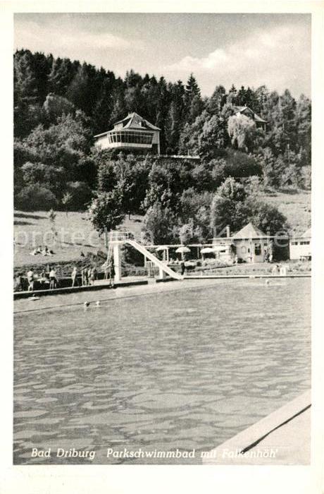 AK / Ansichtskarte Bad Driburg Parkschwimmbad Falkenhoehe Kat. Bad Driburg