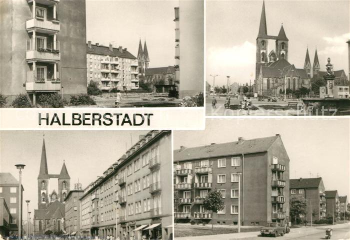 AK / Ansichtskarte Halberstadt Lindenweg Fischmarkt Breiteweg Clare Zetkin Ring Kat. Halberstadt