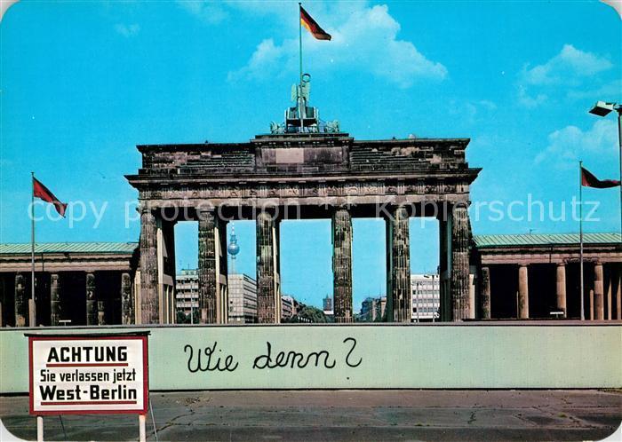 AK / Ansichtskarte Berlin Brandenburger Tor Kat. Berlin 0