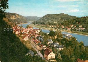 AK / Ansichtskarte Wehlen Sachsen Panorama Elbtal Saechsische Schweiz Kat. Wehlen