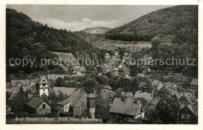 AK / Ansichtskarte Bad Grund Blick vom Eichelberg Kat. Bad Grund (Harz)