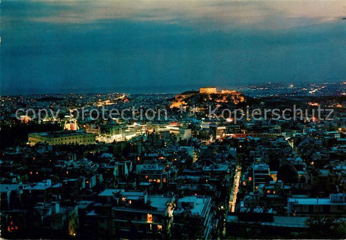 AK / Ansichtskarte Athenes Athen bei Nacht Kat. Griechenland