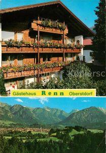Oberstdorf Gaestehaus Renn Landschaftspanorama Alpen Kat. Oberstdorf