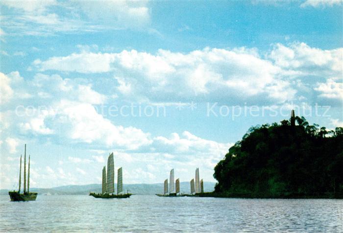 Yunnan Segelschiffe an der Kueste Kat. China