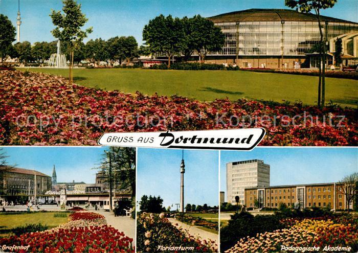 AK / Ansichtskarte Dortmund Grafenhof Florianturm Paedagogische Akademie Kat. Dortmund