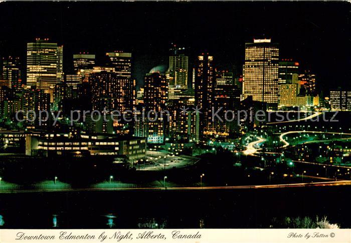 AK / Ansichtskarte Alberta  Downtown Edmonton Nacht Kat. Kanada
