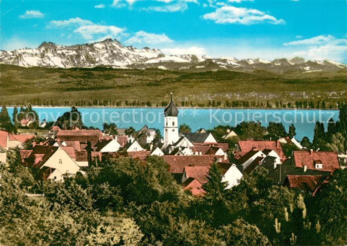 AK / Ansichtskarte Allensbach Bodensee Schweizer Alpen Kat. Allensbach Bodensee 0