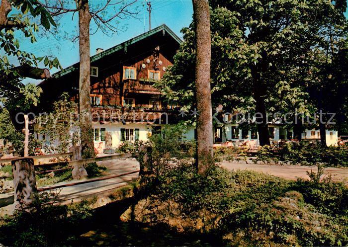 AK / Ansichtskarte Bad Heilbrunn Gasthauf Cafe Ramsau Pension Kat. Bad Heilbrunn