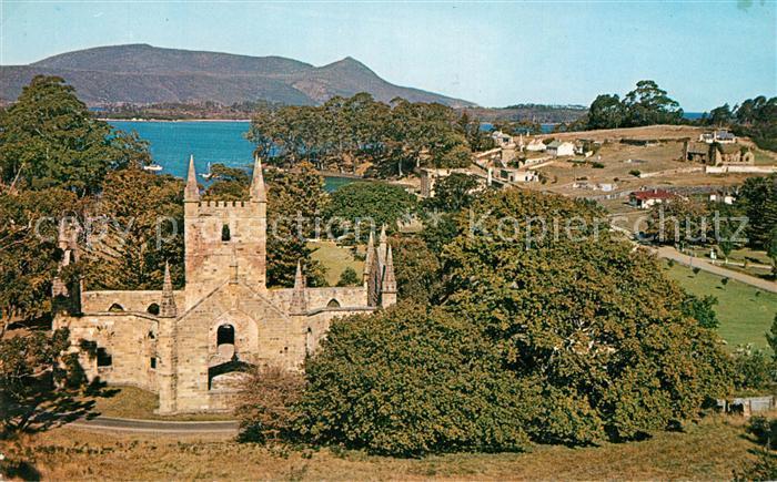 AK / Ansichtskarte Port Arthur Tasmania Kirchenruine