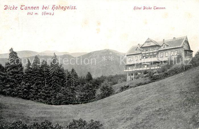 Hohegeiss Harz Hotel Dicke Tannen Kat. Braunlage