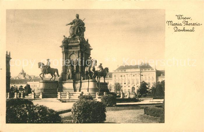 Wien Maria Theresia Denkmal Kat. Wien