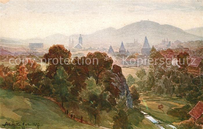 Goslar Blick vom Petersberg Kat. Goslar