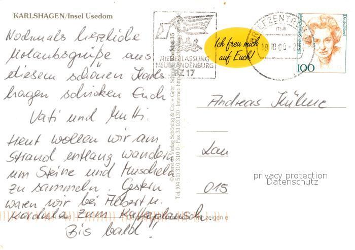 AK / Ansichtskarte Karlshagen Insel Usedom Fliegeraufnahme Kat. Karlshagen Usedom 1