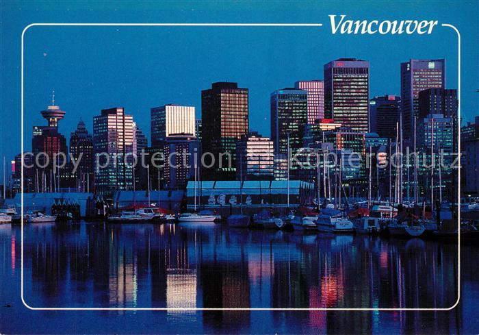 AK / Ansichtskarte Vancouver British Columbia Skyline Caol Harbour at night Kat. Vancouver