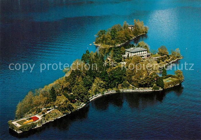 AK / Ansichtskarte Isole di Brissago Fliegeraufnahme Kat. Isole di Brissago