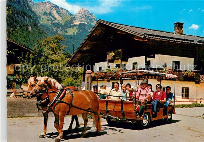 AK / Ansichtskarte Salzburger Land Pferdewagen