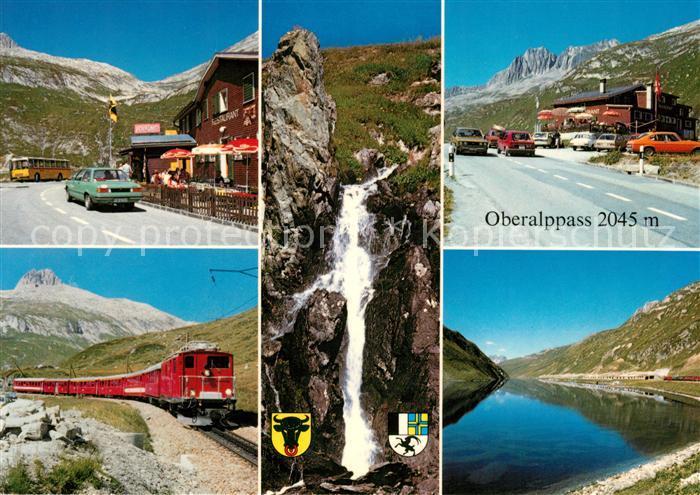 AK / Ansichtskarte Oberalppass See Eisenbahn Passhoehe Kat.