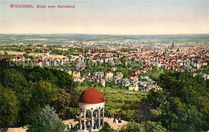 AK / Ansichtskarte Wiesbaden Blick vom Neroberg Tempel Kat. Wiesbaden