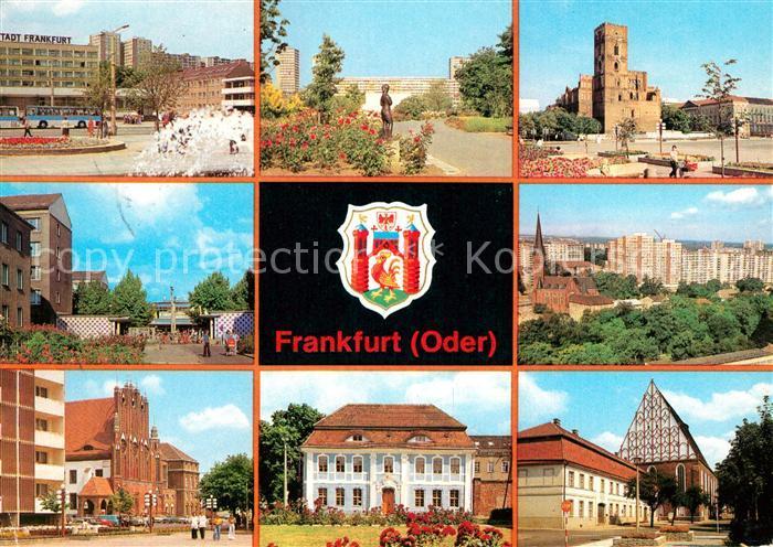AK / Ansichtskarte Frankfurt Oder Hotel Stadt Frakfurt Rathaus Marienkirche Kat. Frankfurt Oder