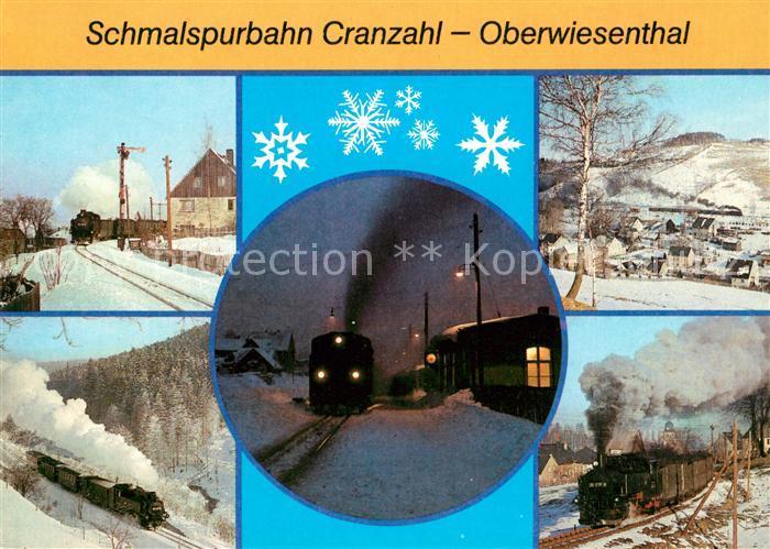 AK / Ansichtskarte Cranzahl Schmalspurbahn Hammerunterwiesenthal Bahnhof Neudorf Kat. Sehmatal