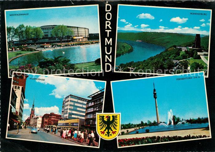 AK / Ansichtskarte Dortmund Westfalenhalle Hohensyburg Kampstrasse Fernsehturm Kat. Dortmund
