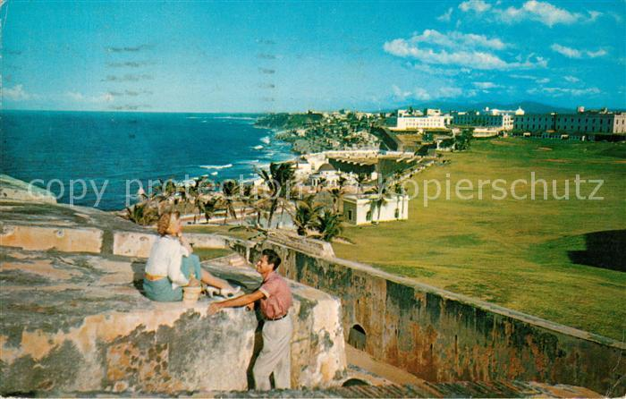 AK / Ansichtskarte San Juan Puerto Rico View of section of El Morro Castle Kat. San Juan