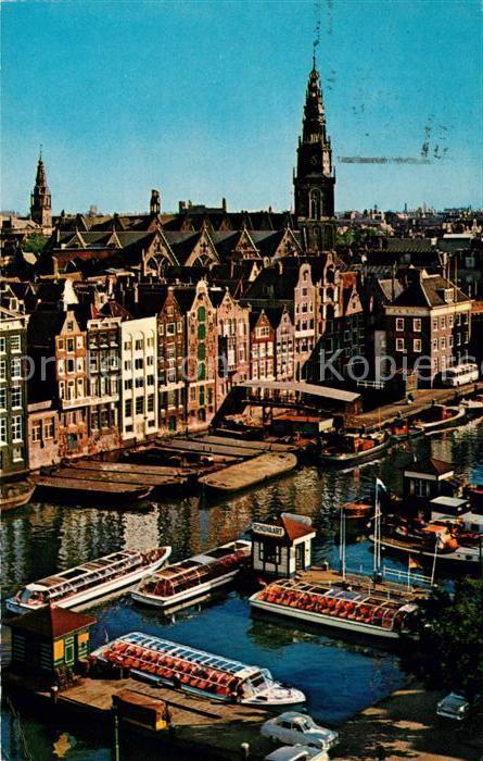 AK / Ansichtskarte Amsterdam Niederlande Damrak met Oude Kerk Alte Kirche Kat. Amsterdam