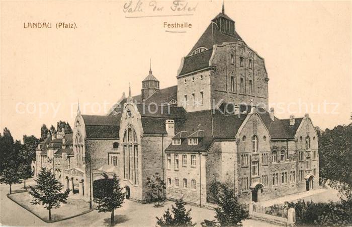 AK / Ansichtskarte Landau Pfalz Festhalle Kat. Landau in der Pfalz