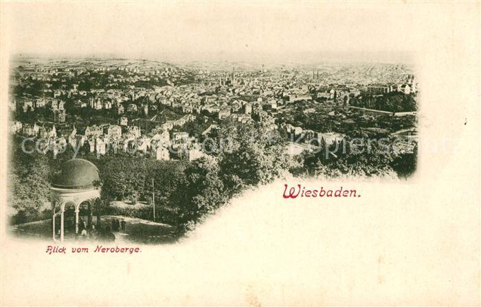 AK / Ansichtskarte Wiesbaden Blick vom Neroberg Kat. Wiesbaden