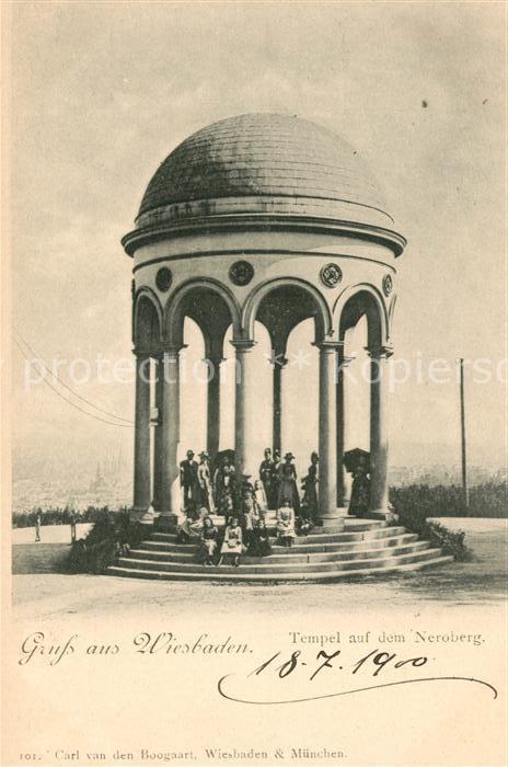 AK / Ansichtskarte Wiesbaden Tempel auf dem Neroberg Kat. Wiesbaden