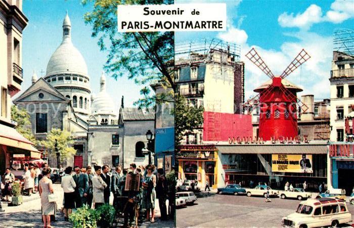 AK / Ansichtskarte Montmartre Paris  Kat. Paris