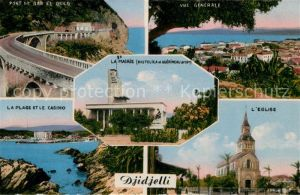 AK / Ansichtskarte Djidjelli Pont Plage Casino Mairie Eglise vue generale Kat. Algerien