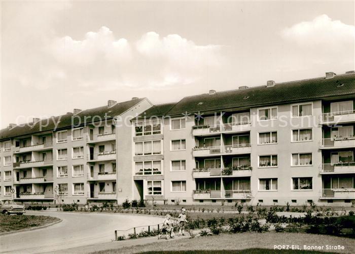 AK / Ansichtskarte Porz Eil Bonner Strasse Siedlung Hochhaeuser Kat. Koeln