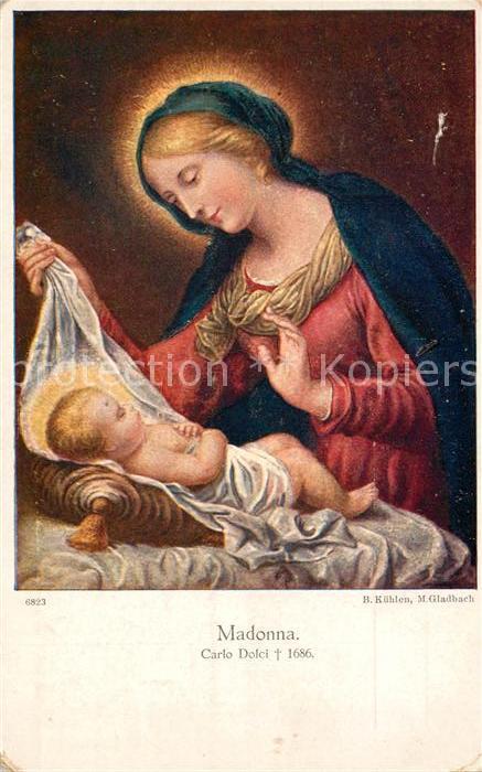 AK / Ansichtskarte Kuenstlerkarte Alte Kuenstler Carlo Dolci Madonna  Kat. Kuenstlerkarte