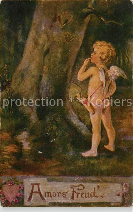 AK / Ansichtskarte Kuenstlerkarte K. Barth Amors Freud  Kat. Kuenstlerkarte