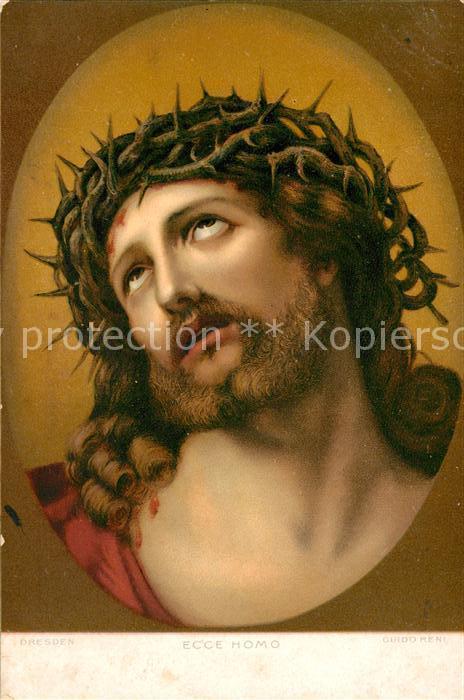 AK / Ansichtskarte Kuenstlerkarte Guido Reni Ecce Homo Jesus Litho Kat. Kuenstlerkarte