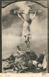 AK / Ansichtskarte Kuenstlerkarte Weerts Pour l Humanite pour la Patrie Jesus  Kat. Kuenstlerkarte
