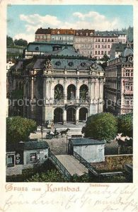 AK / Ansichtskarte Karlsbad Eger Stadttheater