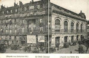 AK / Ansichtskarte Paris Facade Rue Lafayette 61 Le Petit Journal Rue Cadet 21 Kat. Paris