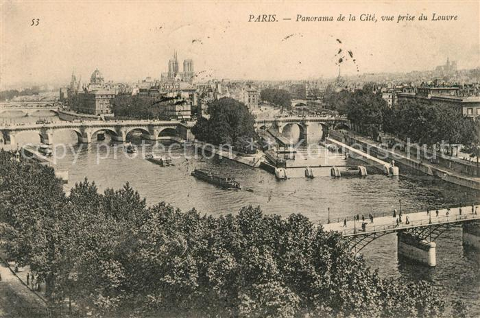 AK / Ansichtskarte Paris Cite Vue prise du Louvre Kat. Paris