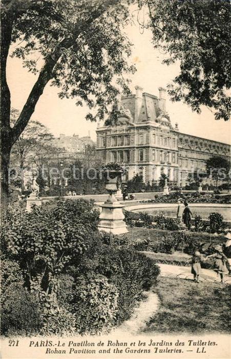 AK / Ansichtskarte Paris Le Pavillon de Rohan et les Jardins des Tuillries Kat. Paris