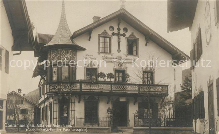 AK / Ansichtskarte Oberammergau Villa von Anton Lang Christusdarsteller Passionsspiele Kat. Oberammergau